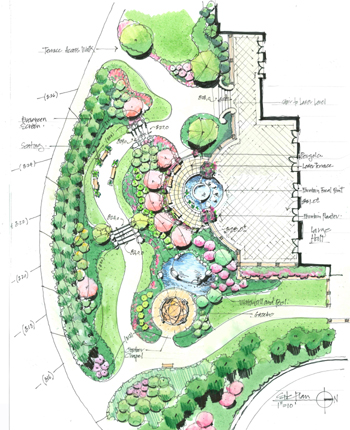 Villa landscape design home decorators collection for Villa landscape plan